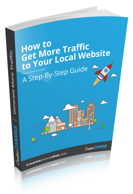E-book cover page on how to get more local traffic
