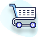 illustration of an e-commerce shopping cart