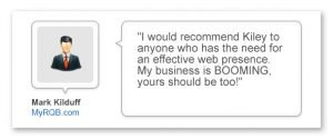 Example testimonial from a Creative Canvas Online Marketing Client